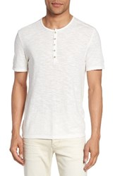 John Varvatos Men's Star Usa Melange Knit Henley Salt
