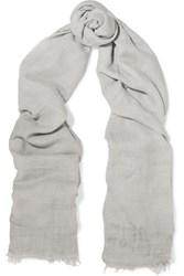 Donna Karan Modal And Wool Blend Scarf Gray