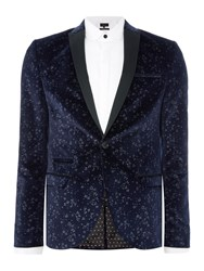 Label Lab Men's Joplin Sb1 Velvet Blazer Navy