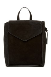 Loeffler Randall Charming Suede And Leather Backpack Black