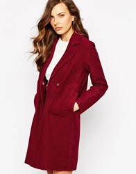 Ax Paris Jacket With Big Pockets Burgundy