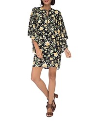 B Collection By Bobeau Morna Butterfly Sleeve Dress Yellow Floral
