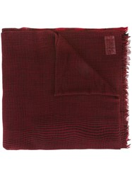 Woolrich Checked Scarf Red