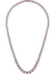 Larkspur And Hawk Bella Magenta Foil Long Necklace Metallic