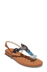 Cole Haan Pinch Lobster Sandal Navy Multi Leather