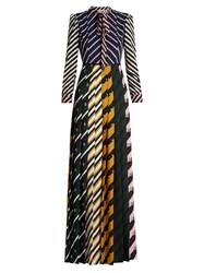 Mary Katrantzou Duritz Abstract Print Crepe De Chine Gown Multi