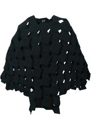 Comme Des Garcons Junya Watanabe Geometric Structured Longsleeved Dress Black