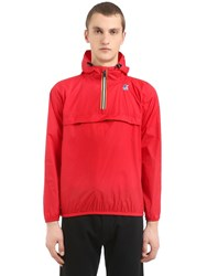 K Way Le Vrai 3.0 Leon Packable Nylon Anorak Red