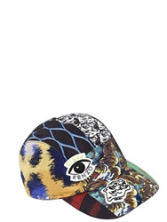 Kenzo Logo Printed Canvas Baseball Hat