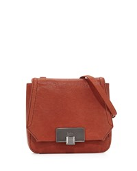 Kooba Filmore Mini Leather Crossbody Bag Rust Red
