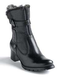 Blondo Fantasia Shearling Lined Buckle Boots Black Leather