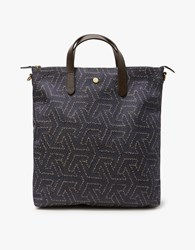 Mismo M S Shopper In Indigo Passage Dark Brown