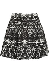 J.Crew Blurred Ikat Printed Satin Twill Mini Skirt Black