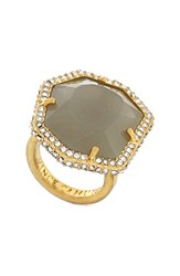 Women's Vince Camuto Pave Border Ring Gold Grey