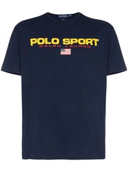 Polo Ralph Lauren Logo Printed T Shirt Blue