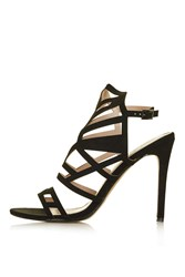 Topshop Mollie Laser Cut Sandals Black