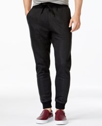 Ring Of Fire Chevron Jogger Pants Black Herringbone