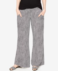 A Pea In The Pod Maternity Printed Wide Leg Pants