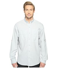 Columbia Tamiami Ii L S Cool Grey Men's Long Sleeve Button Up Gray