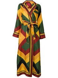 F.R.S For Restless Sleepers Long Belted Coat Multicolour