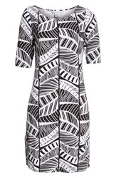 Tommy Bahama Leaf Line Shift Dress Black