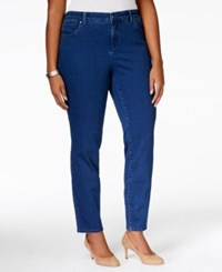 Charter Club Plus Size Bristol Tummy Control Ankle Jeans Only At Macy's