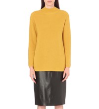 Whistles Anderson High Neck Wool And Cashmere Blend Jumper Yellow