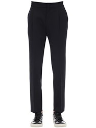 Z Zegna Diagonal Active Wool Trousers Navy