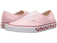 Vans Authentic Hearts Tape Pink Lady Red Skate Shoes