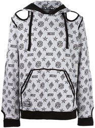 Ktz Monogram Inside Out Hoodie White