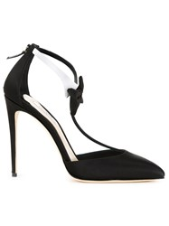 Olgana Bow Detail Satin Pumps Black