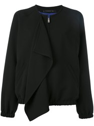 Barbara Bui Front Flap Bomber Jacket Black