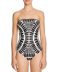 Trina Turk Algiers Bandeau One Piece Swimsuit Black