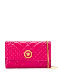 Versace Medusa Head Quilted Clutch Pink