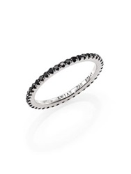 Kwiat Black Diamond And 18K White Gold Eternity Stacking Ring