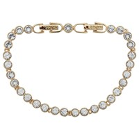 Cachet Swarovski Crystal Tennis Bracelet Yellow Gold