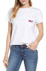 Vineyard Vines Classic Whale Pocket Tee White Cap