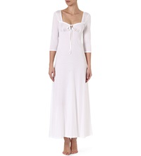 Bodas Long Jersey Nightdress White