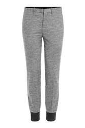 Neil Barrett Houndstooth Wool Track Pants Grey