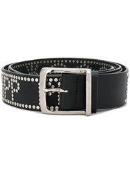 Philipp Plein Studded Buckle Belt Black