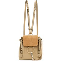 Chloe Beige Mini Faye Backpack