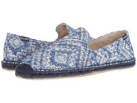 Soludos Printed Smoking Slipper Indigo Men's Flat Shoes Blue