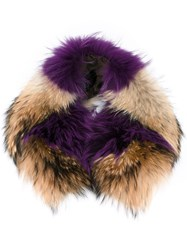 Mr And Mrs Italy Furry Scarf Brown