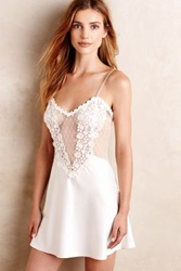 Anthropologie Flora Nikrooz Showstopper Chemise Ivory S Sweaters