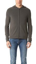 Theory Aires Kamero Cashmere Zip Hoodie Light Night