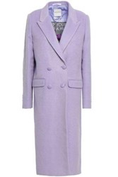 Each X Other Woman Double Breasted Brushed Felt Coat Lilac