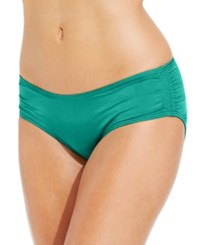 Coco Reef Ruched Hipster Bikini Bottoms Women's Swimsuit Topaz Teal