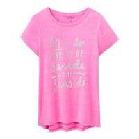 Joules Eva Beside The Seaside Graphic T Shirt Neon Candy