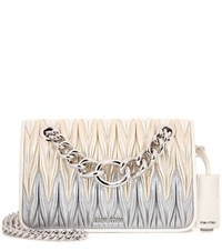 Miu Miu Matelasse Leather Shoulder Bag Metallic