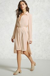 Forever 21 High Low Longline Cardigan Taupe